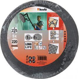 5 dischi abrasivi grana 220 diam. 225 kwb