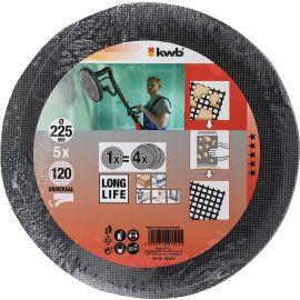 5 dischi abrasivi grana 120 diam. 225 kwb