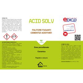 Acid solv lt.1 pulisce fuganti cementizi per gres porcellanato ecc.