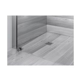 Piatto doccia a pavimento con griglia quadrata - dry 50 10,7x10,7  revestech