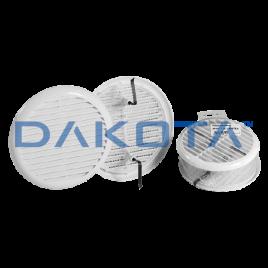 Griglia universale tonda dm 140 mm con molle e rete abs bianco