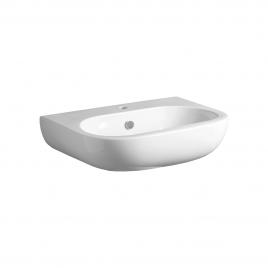 El05 e-line lavabo 65 bianco  per colonna e sospeso