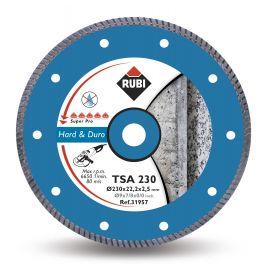 Disco diamantato turbo tsa 230 pro per materiale duro rubi