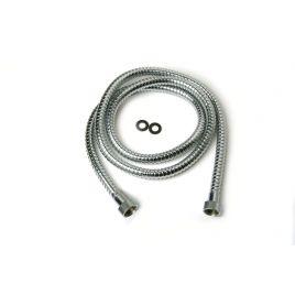 Flessibile per doccia con attacco conico  doppia aggraffatura ff1/2x150 cm