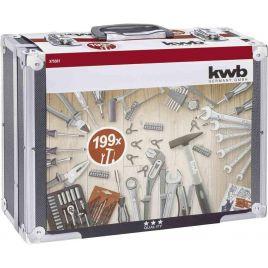 Valigetta metallica utensili 199 pz kwb