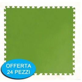 Tappeto sottopiscina bestway 58265 verde 81x81cm fino a 24 pezzi