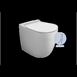 Vaso wc - vignoni simas - filo muro  a terra bianco con set fissaggio