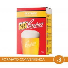 Zucchero per birra artigianale 3 pezzi coopers dextrose 3kg destrosio