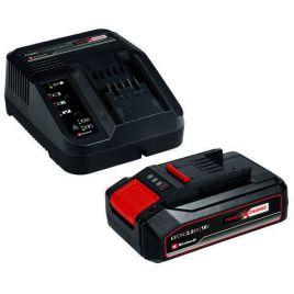 Caricabatteria + 1 batteria 2.5 ah power-x-change 18 v starter kit einhell
