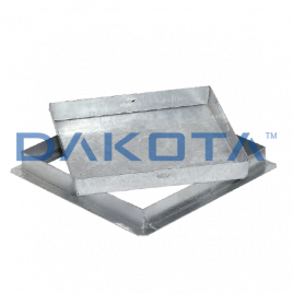 Sigillo zincato pesante 40x40 cm altezza cm. 5 a riempimento