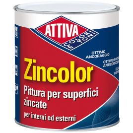 Pittura per superfici zincata zincolor bianco 330 lt0,75