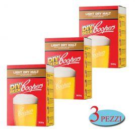 Intensificatore coopers light dry malt birra artigianale 3 pezzi da 500g schiuma corposità zucchero