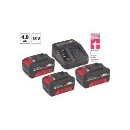 Kit 3 batterie 18 v - 4,0 ah + caricabatteria einhell