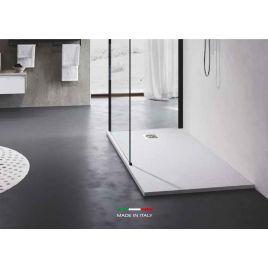 Piatto doccia dixi mineralsolid ardesia cm 140x80 h 3 cm bianco opaco
