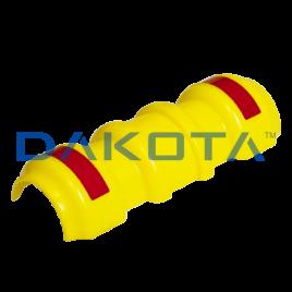 Copritubo in pp polipropilene, colore giallo