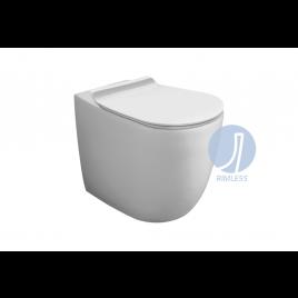 Vi01 vignoni vaso carenato bianco rimless scarico a parete o pavimento